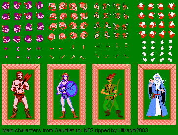 File:Gauntlet - NES - Graphic Sheet - Characters.png