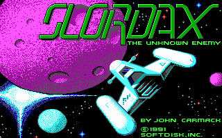 File:Slordax - Unknown Enemy, The - DOS - Screenshot - Title.png