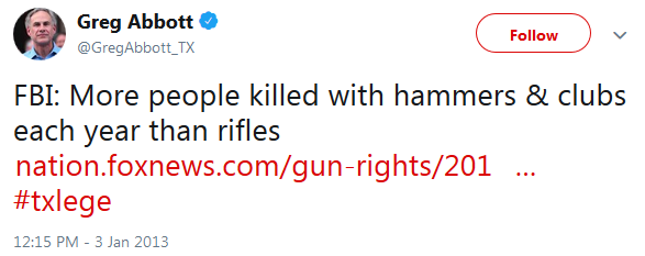 File:More People Are Killed By Hammers Than Rifles - Greg Abbot Post.png