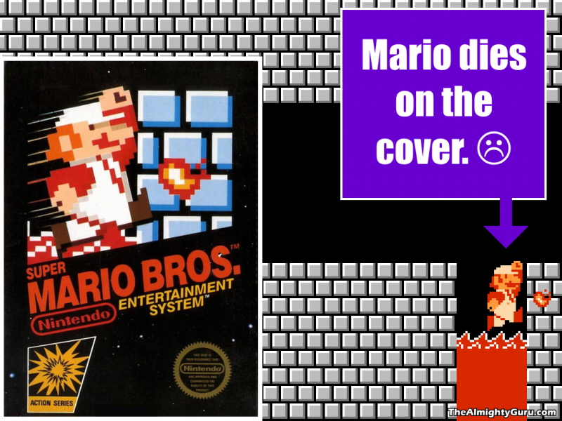File:Super Mario Bros. - Mario Dies On the Cover.png