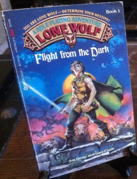 File:Lone Wolf - Flight From the Dark - Mass Market - USA - 2nd Edition.jpg
