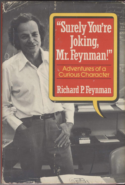 File:Surely You're Joking, Mr. Feynman! - Hardcover - USA - 1st Edition.jpg