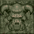 Doom - DOS - Texture - Green Marble Demon Face.png