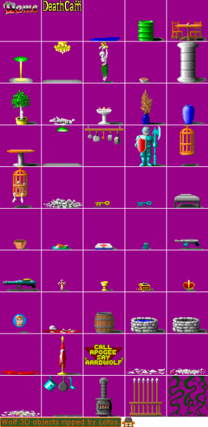 File:Wolfenstein 3D - DOS - Graphics - Objects.png