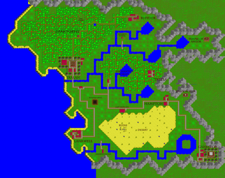 File:Times of Lore - DOS - Map - With Labels.png