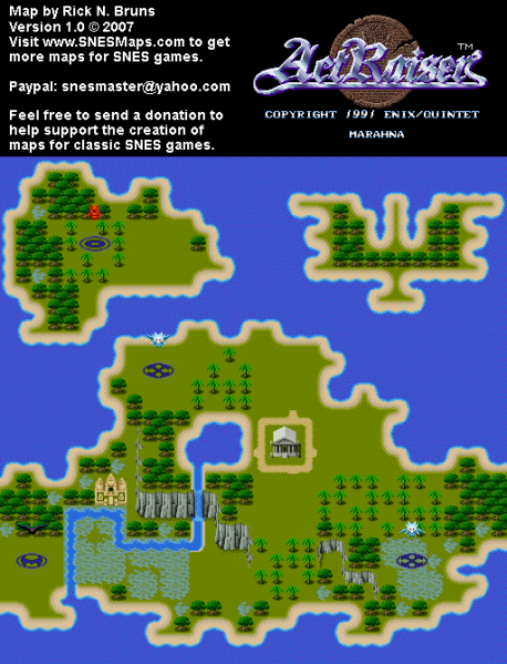 File:ActRaiser - SNES - Map - Marahna City - Unpopulated.png