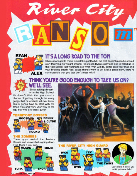 File:River City Ransom - NES - Nintendo Power, Page 42.jpg
