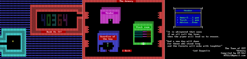 File:ZZT - DOS - Map - Town - Armory.png