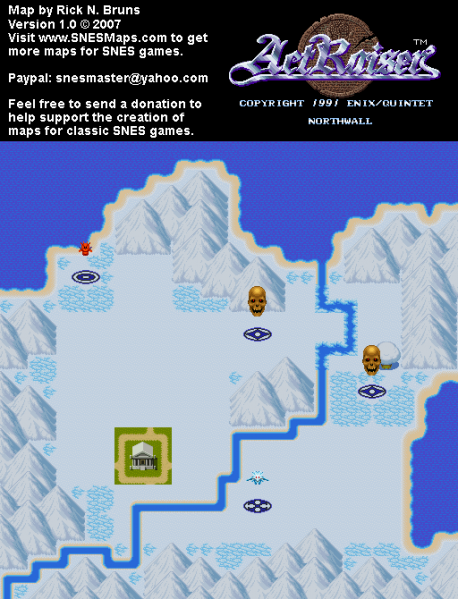 File:ActRaiser - SNES - Map - Northwall City - Unpopulated.png