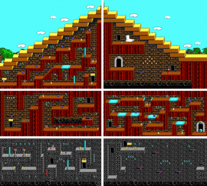 File:Commander Keen 4 - DOS - Map - Pyramid of the Forbidden.png