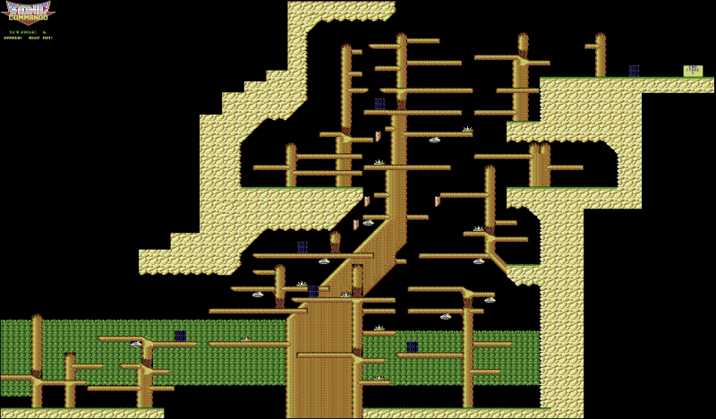 File:Bionic Commando - C64 - Map - Stage 1.png
