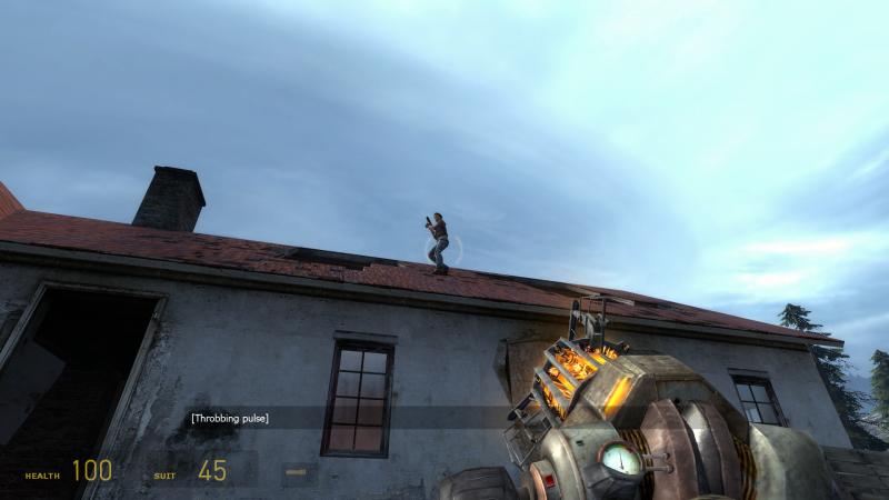 File:Half-Life 2 - Episode Two - W32 - Screenshot - Alyx On a Roof Bug.png
