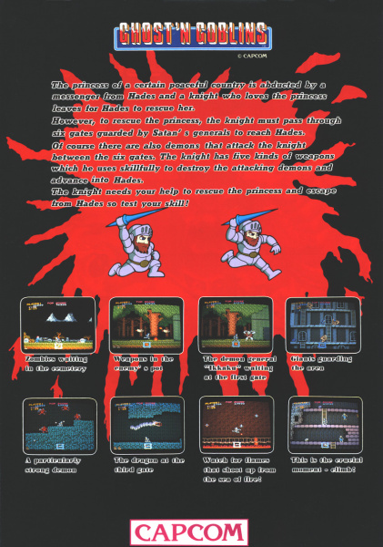 File:Ghosts 'N Goblins - ARC - USA - Flyer - Capcom - Screenshots.jpg