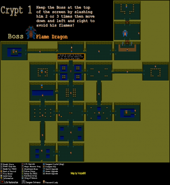 File:Neutopia - TG16 - Map - 1.2 - Crypt 1.png