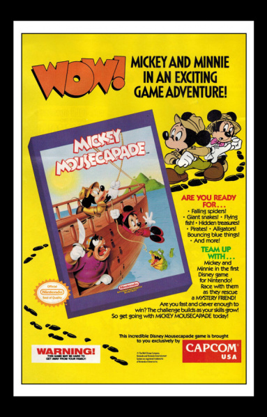 File:Mickey Mousecapade - NES - USA - Ad.jpg